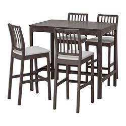 EKEDALEN/EKEDALEN - 吧檯連4張高腳凳, 深褐色/Orrsta 淺灰色 | IKEA 香港及澳門 - PE744732_S3