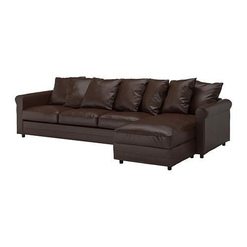 GRÖNLID - 4-seat sofa, with chaise longue/Kimstad dark brown   IKEA Hong Kong and Macau - PE744746_S4