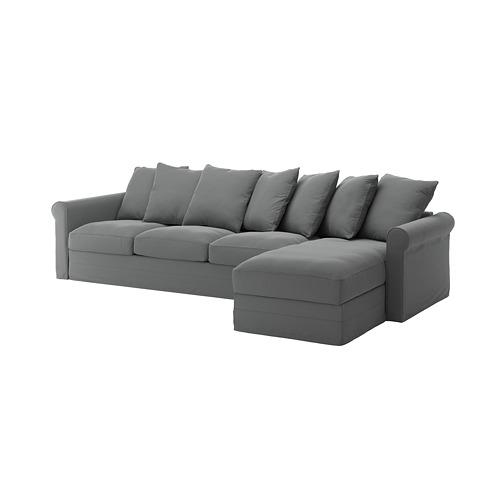 GRÖNLID - 4-seat sofa, with chaise longue/Ljungen medium grey | IKEA Hong Kong and Macau - PE744767_S4