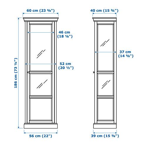 MALSJÖ - 玻璃門貯物櫃, 染黑 | IKEA 香港及澳門 - PE656932_S4