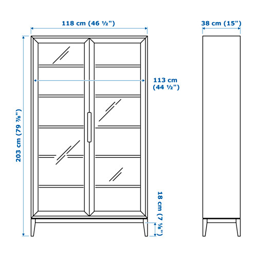 REGISSÖR - 玻璃門貯物櫃, 白色   IKEA 香港及澳門 - PE656946_S4