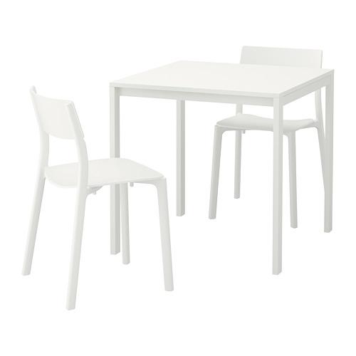 MELLTORP/JANINGE - table and 2 chairs, white/white | IKEA Hong Kong and Macau - PE656963_S4