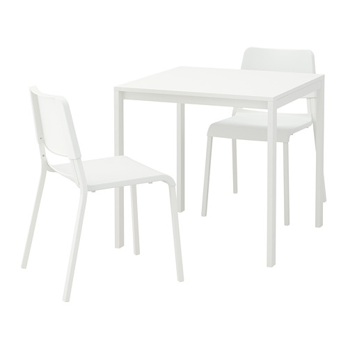 MELLTORP/TEODORES - 一檯兩椅, 白色/白色 | IKEA 香港及澳門 - PE656967_S4