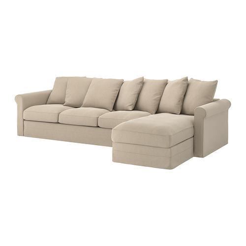 GRÖNLID - 4-seat sofa, with chaise longue/Sporda natural | IKEA Hong Kong and Macau - PE744754_S4