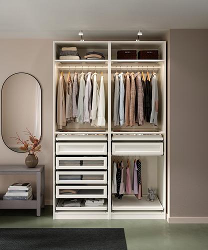 PAX - 2個衣櫃框, 白色 | IKEA 香港及澳門 - PH171207_S4