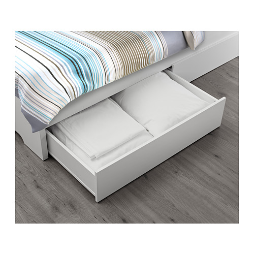 ASKVOLL - bed frame with 2 storage boxes, LURÖY, small double | IKEA Hong Kong and Macau - PE656976_S4