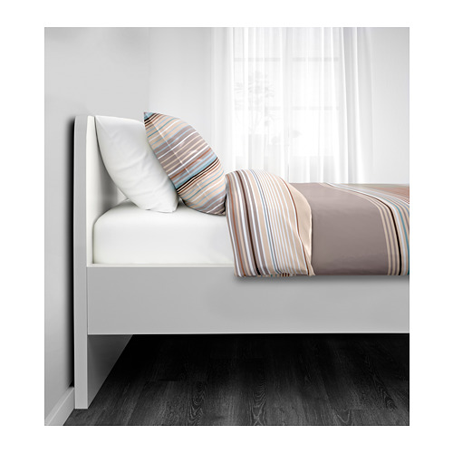 ASKVOLL - bed frame with 2 storage boxes, LURÖY, small double | IKEA Hong Kong and Macau - PE656975_S4