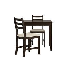 LERHAMN - 一檯兩椅, 棕黑色/Vittaryd 米黃色 | IKEA 香港及澳門 - PE386652_S3