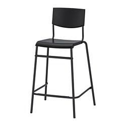STIG - 高腳凳連靠背, 椅座高度63cm, 黑色/黑色 | IKEA 香港及澳門 - PE798867_S3