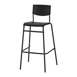STIG - 高腳凳連靠背, 椅座高度74cm, 黑色/黑色 | IKEA 香港及澳門 - PE798873_S3