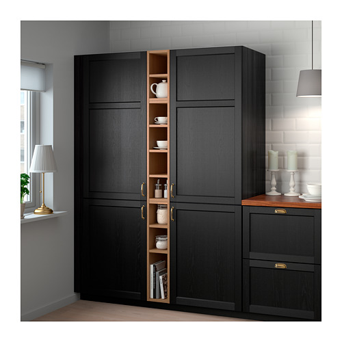 VADHOLMA - open storage, brown/stained ash | IKEA Hong Kong and Macau - PE657098_S4