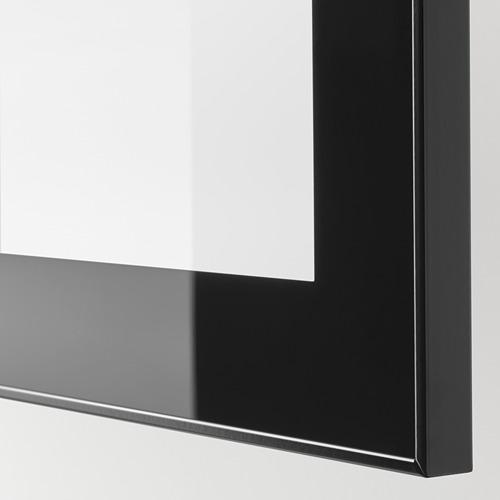 BESTÅ - TV storage combination/glass doors, black-brown/Selsviken high-gloss/black clear glass   IKEA Hong Kong and Macau - PE744948_S4
