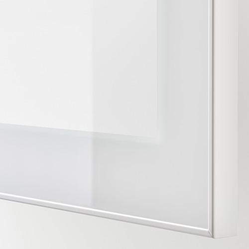 BESTÅ - TV bench, white stained oak effect/Selsviken/Nannarp high-gloss/white clear glass | IKEA 香港及澳門 - PE744951_S4