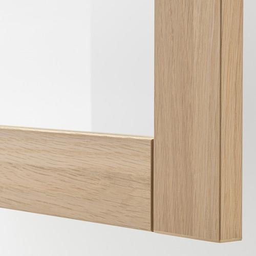 BESTÅ - 電視貯物組合/玻璃門, white stained oak effect/Lappviken white stained oak eff clear glass | IKEA 香港及澳門 - PE744960_S4