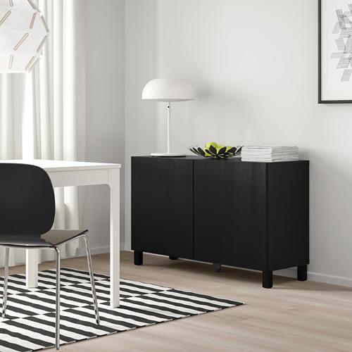 BESTÅ - storage combination with doors, black-brown/Timmerviken/Stubbarp black   IKEA Hong Kong and Macau - PE745001_S4