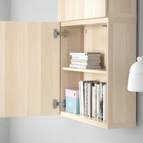 BESTÅ - 雙門吊櫃, white stained oak effect/Lappviken white stained oak effect | IKEA 香港及澳門 - PE561327_S4
