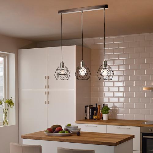 SKAFTET - 三頭電線套裝連天花板吸頂裝置, 鍍鎳 長方形 | IKEA 香港及澳門 - PE799064_S4