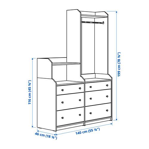 HAUGA - storage combination, white | IKEA Hong Kong and Macau - PE799088_S4
