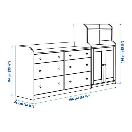 HAUGA - storage combination, white | IKEA Hong Kong and Macau - PE799089_S4