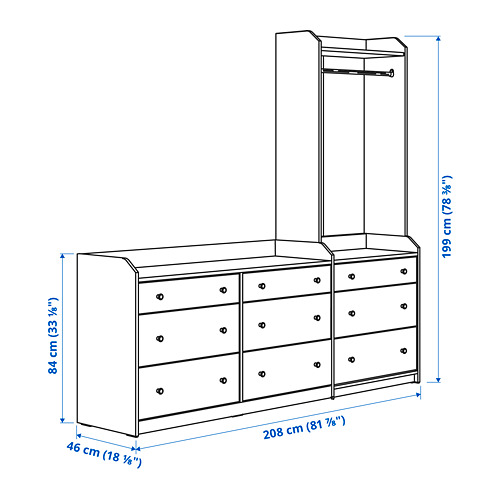 HAUGA - storage combination, white | IKEA Hong Kong and Macau - PE799090_S4