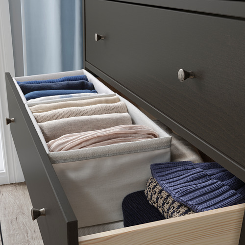 BAXNA - 收納用品, 34x26x18 cm, 灰色/白色   IKEA 香港及澳門 - PE799105_S4