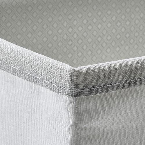 BAXNA - 收納用品, 20x17x6 cm, 灰色/白色   IKEA 香港及澳門 - PE799107_S4