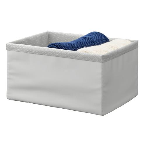 BAXNA - 收納用品, 34x26x18 cm, 灰色/白色   IKEA 香港及澳門 - PE799106_S4