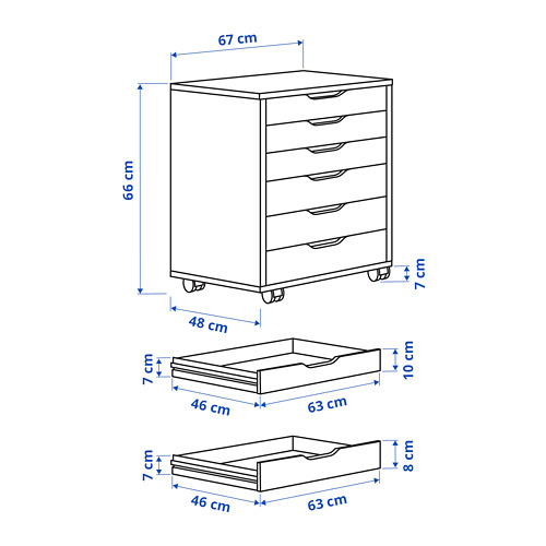 ALEX - drawer unit on castors, grey-turquoise | IKEA Hong Kong and Macau - PE799212_S4