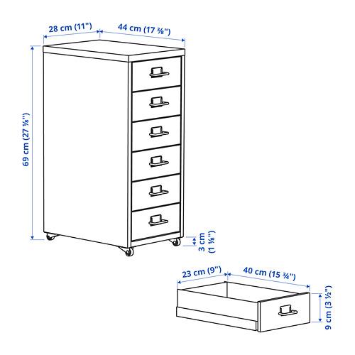 HELMER - 活動抽屜組合, 28x44x69cm, 深灰色/淺灰色   IKEA 香港及澳門 - PE799215_S4