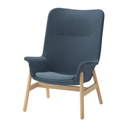 VEDBO - high-back armchair, Gunnared blue | IKEA Hong Kong and Macau - PE657418_S3