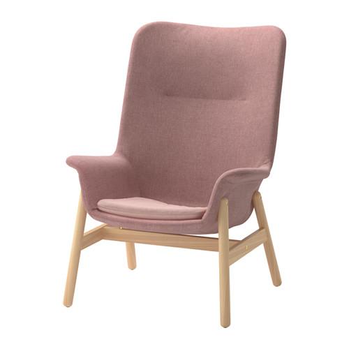 VEDBO - high-back armchair, Gunnared light brown-pink | IKEA Hong Kong and Macau - PE657422_S4