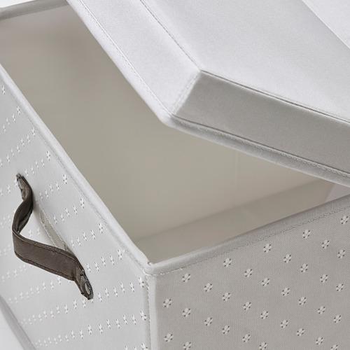 BLÄDDRARE - box with lid, grey/patterned | IKEA Hong Kong and Macau - PE799222_S4