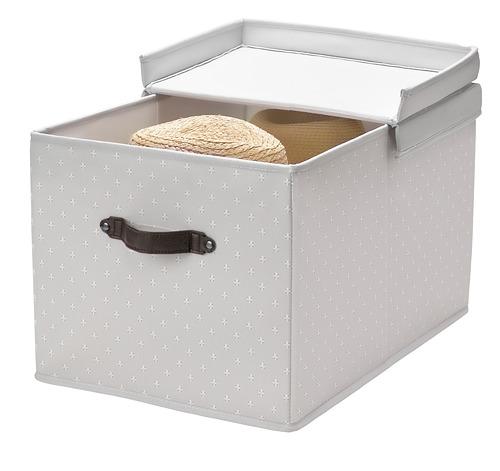 BLÄDDRARE - box with lid, grey/patterned | IKEA Hong Kong and Macau - PE799220_S4