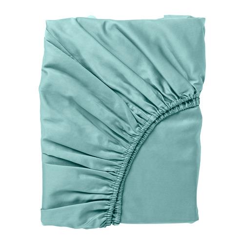 NATTJASMIN - fitted sheet, grey-turquoise, king | IKEA Hong Kong and Macau - PE779181_S4