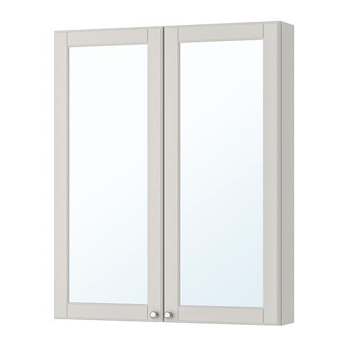 GODMORGON - mirror cabinet with 2 doors, Kasjön light grey | IKEA Hong Kong and Macau - PE705183_S4