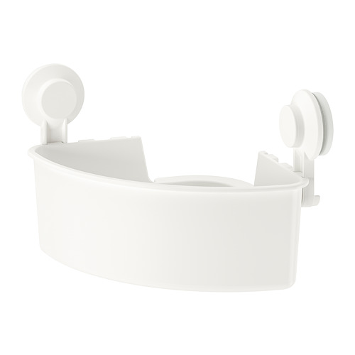 TISKEN - 角位層架組合連吸盤, 白色 | IKEA 香港及澳門 - PE745417_S4