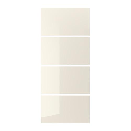 HOKKSUND - 趟門面板,4件裝, 光面 淺米黃色 | IKEA 香港及澳門 - PE745470_S4