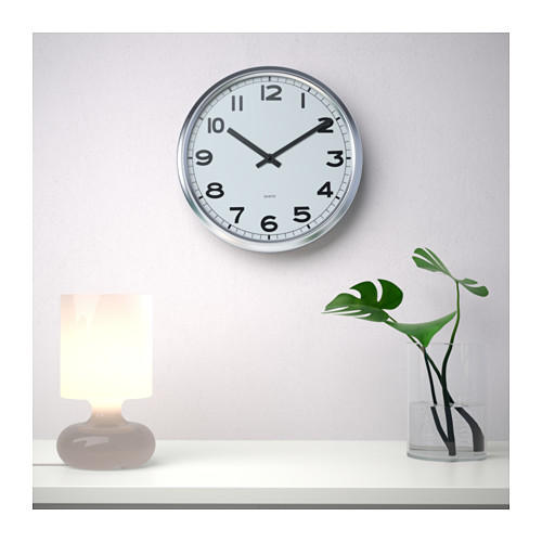 PUGG - wall clock, stainless steel | IKEA Hong Kong and Macau - PE598733_S4