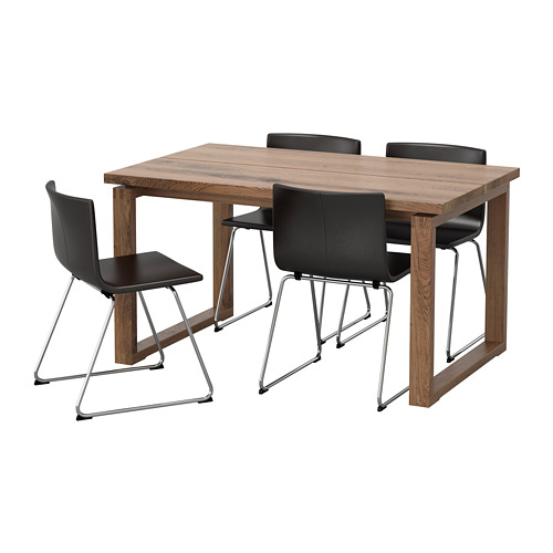 MÖRBYLÅNGA/BERNHARD - table and 4 chairs, brown/Mjuk dark brown | IKEA Hong Kong and Macau - PE657568_S4
