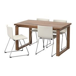 BERNHARD/MÖRBYLÅNGA - table and 4 chairs, brown/Mjuk white | IKEA Hong Kong and Macau - PE657570_S3