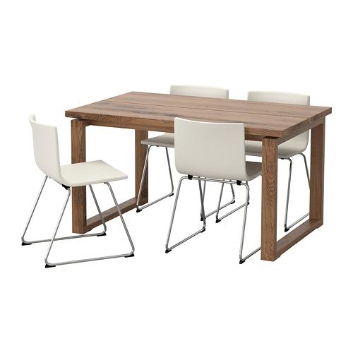 BERNHARD/MÖRBYLÅNGA - table and 4 chairs, brown/Mjuk white | IKEA Hong Kong and Macau - PE657570_S4