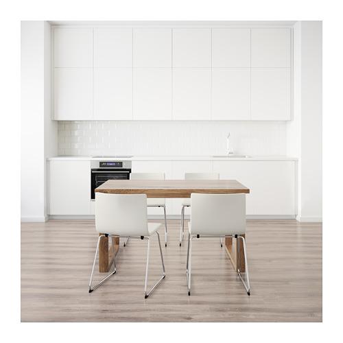 BERNHARD/MÖRBYLÅNGA - table and 4 chairs, brown/Mjuk white | IKEA Hong Kong and Macau - PE657571_S4