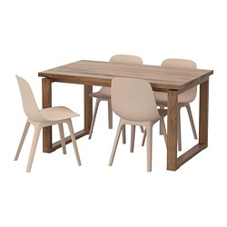 ODGER/MÖRBYLÅNGA - table and 4 chairs, brown white/beige | IKEA Hong Kong and Macau - PE657572_S3