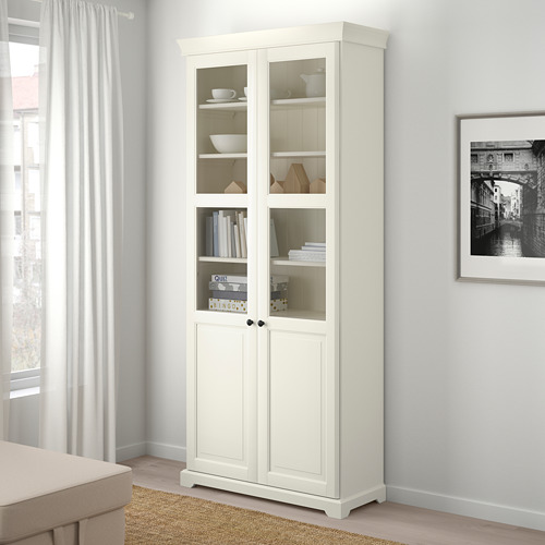 LIATORP - bookcase with glass-doors, white | IKEA Hong Kong and Macau - PE701258_S4