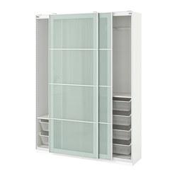 PAX - 衣櫃, 白色/Sekken 磨砂玻璃 | IKEA 香港及澳門 - PE705322_S3