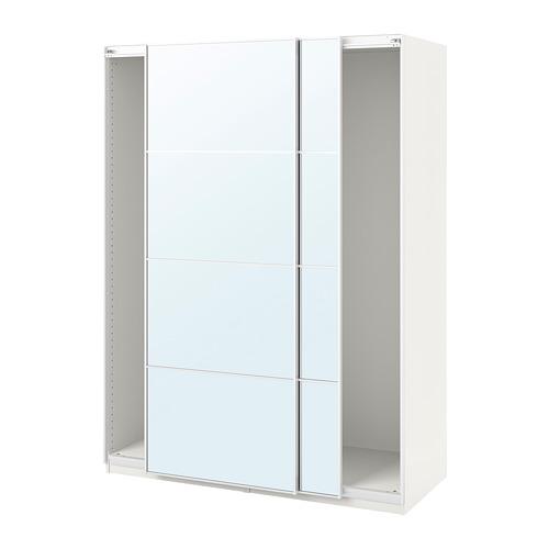 PAX - wardrobe with sliding doors, white/Auli mirror glass | IKEA Hong Kong and Macau - PE705369_S4