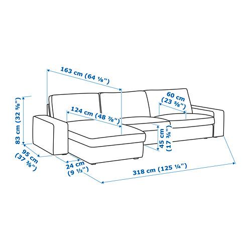 KIVIK - 4-seat sofa, with chaise longue/Grann/Bomstad dark brown | IKEA Hong Kong and Macau - PE745565_S4