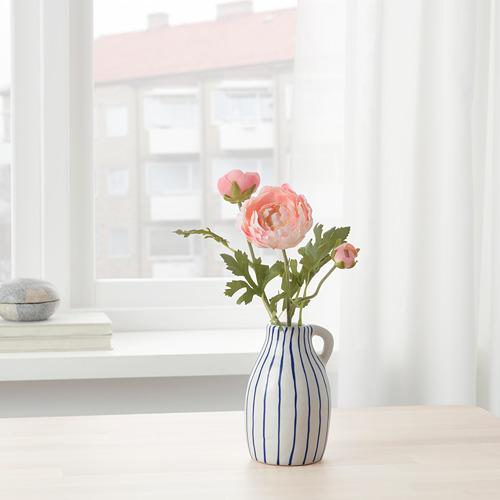 GODTAGBAR - 花瓶, 陶瓷 白色/藍色   IKEA 香港及澳門 - PE745646_S4
