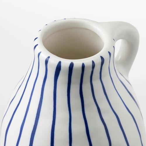 GODTAGBAR - 花瓶, 陶瓷 白色/藍色   IKEA 香港及澳門 - PE745647_S4