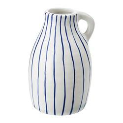 GODTAGBAR - 花瓶, 陶瓷 白色/藍色   IKEA 香港及澳門 - PE745648_S3